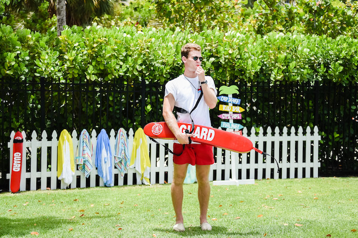 Lifeguard from a Surf's Up Beach Birthday Party on Kara's Party Ideas | KarasPartyIdeas.com (31)