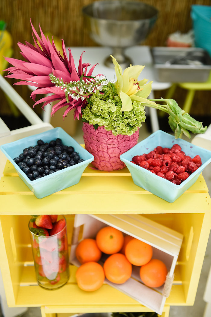 Fresh fruit from a Surf's Up Beach Birthday Party on Kara's Party Ideas | KarasPartyIdeas.com (27)