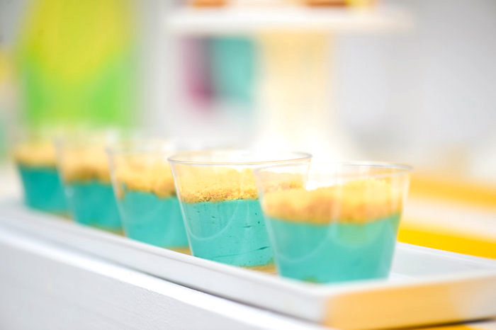 Dessert cup from a Surf's Up Beach Birthday Party on Kara's Party Ideas | KarasPartyIdeas.com (14)