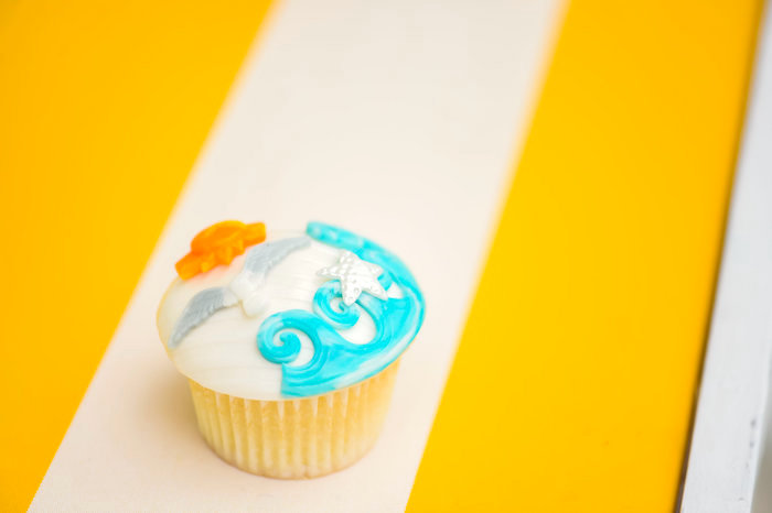 Cupcake from a Surf's Up Beach Birthday Party on Kara's Party Ideas | KarasPartyIdeas.com (11)