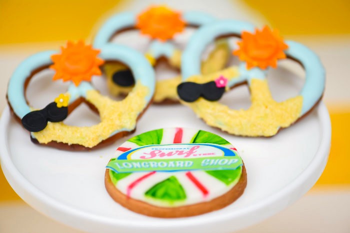 Chocolate covered beach pretzels from a Surf's Up Beach Birthday Party on Kara's Party Ideas | KarasPartyIdeas.com (9)