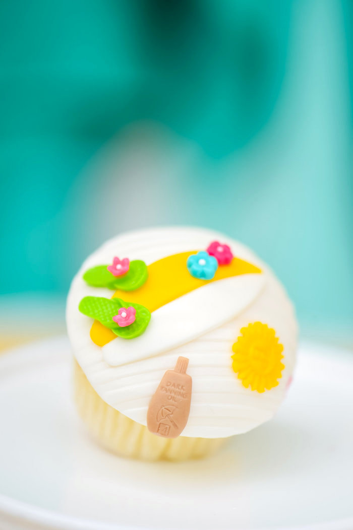Beach cupcake from a Surf's Up Beach Birthday Party on Kara's Party Ideas | KarasPartyIdeas.com (8)