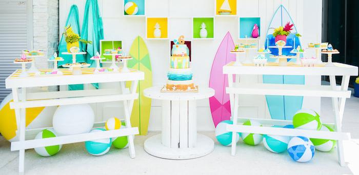 Karas Party Ideas Surfs Up Beach Birthday