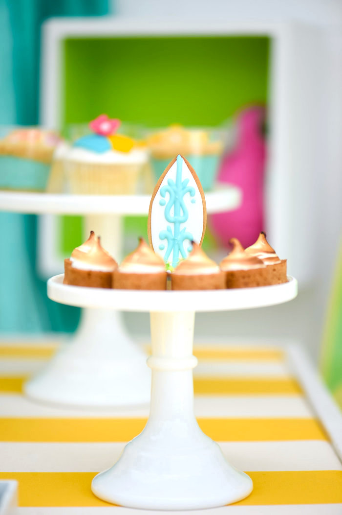 Surfboard cookie from a Surf's Up Beach Birthday Party on Kara's Party Ideas | KarasPartyIdeas.com (43)