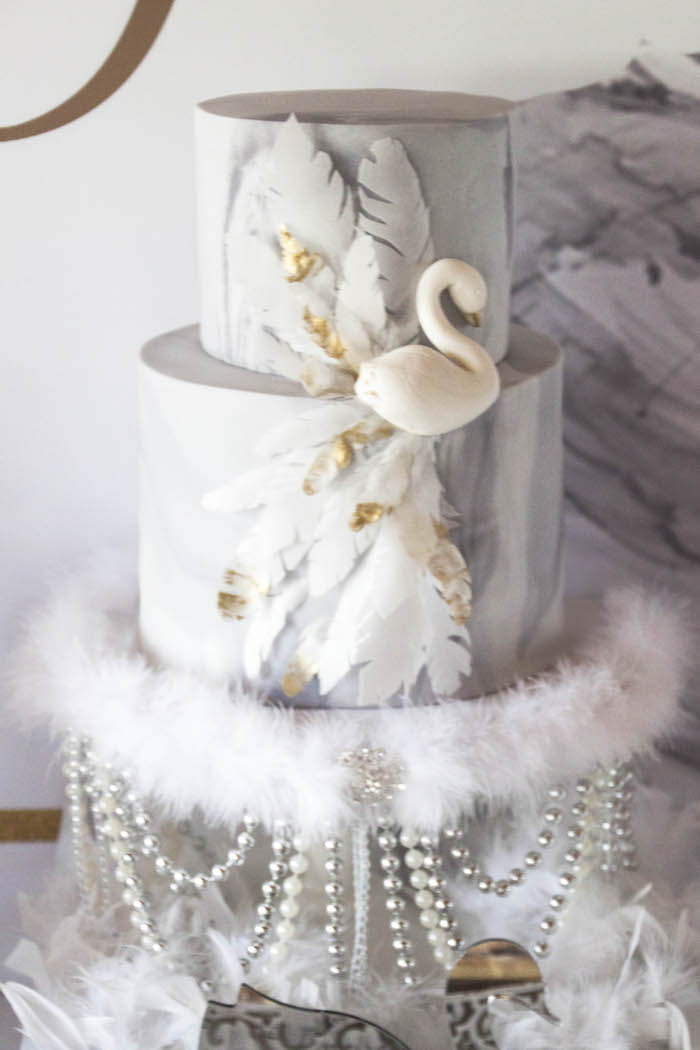 swan wedding cake kara s ideas swan soiree birthday kara s 20670