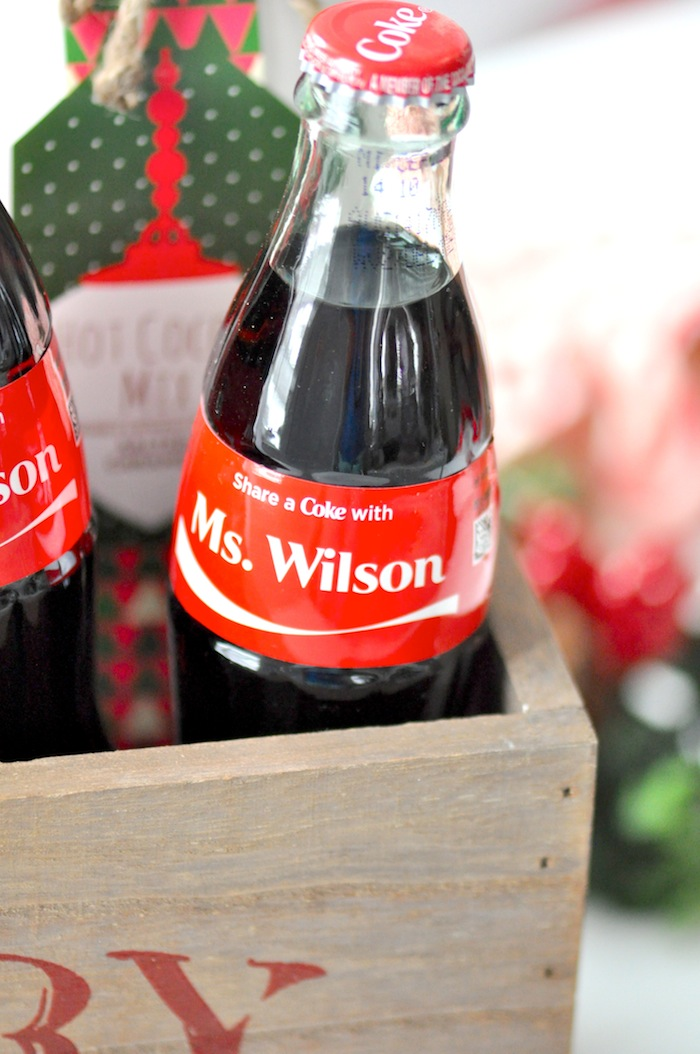 Teacher appreciation Christmas Holiday gift idea! Night in with share a coke by Kara's Party Ideas 5