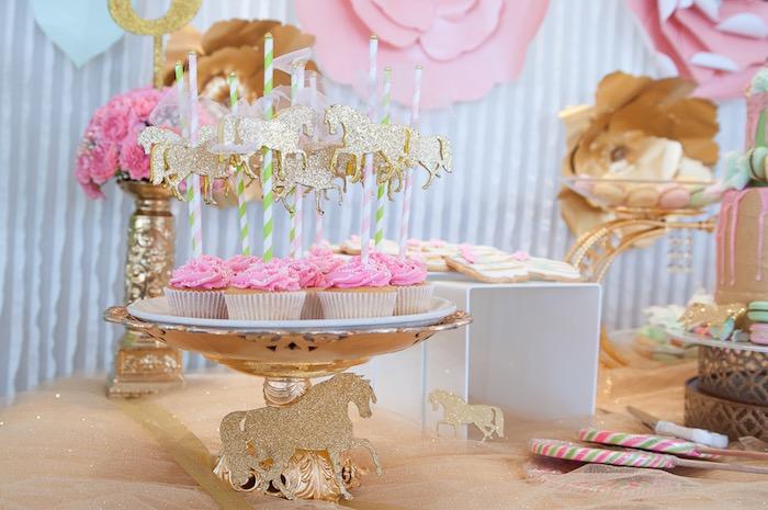 Kara's Party Ideas Vintage Carousel 1st Birthday Party