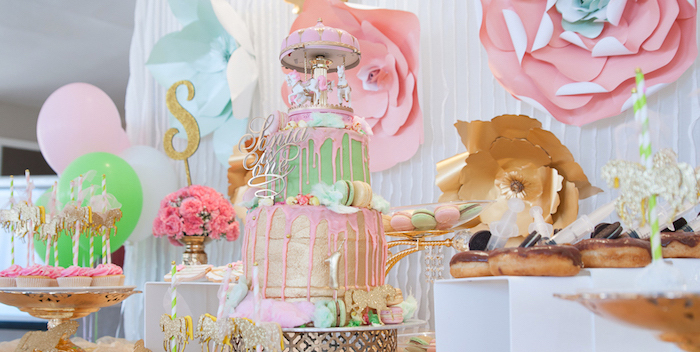Vintage Carousel 1st Birthday Party On Kara S Ideas Karaspartyideas