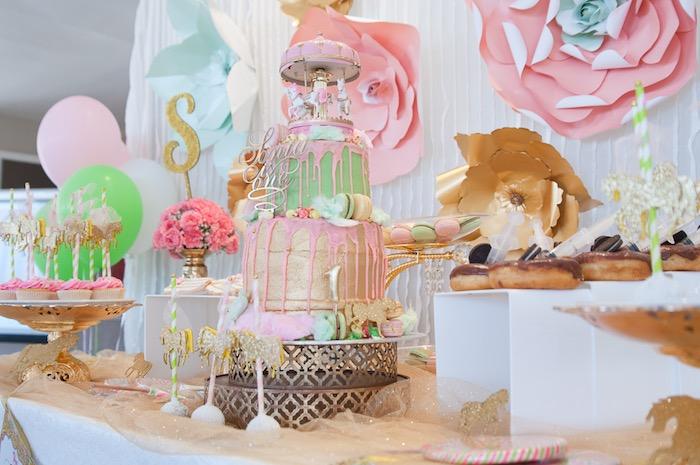 Kara S Party Ideas Vintage Carousel 1st Birthday Party