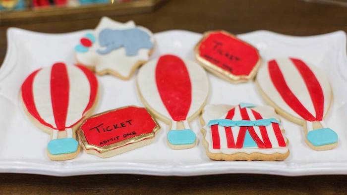 Circus cookies from a Vintage Circus Birthday Party on Kara's Party Ideas | KarasPartyIdeas.com (33)