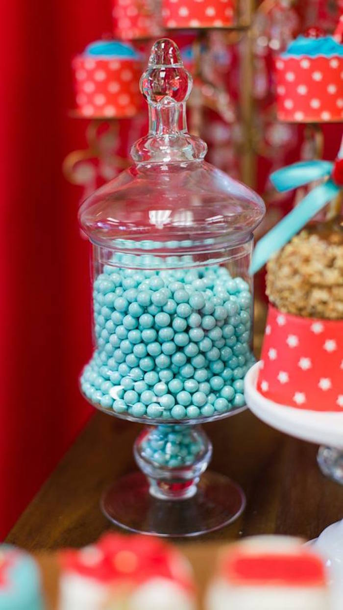 Candy jar from a Vintage Circus Birthday Party on Kara's Party Ideas | KarasPartyIdeas.com (12)