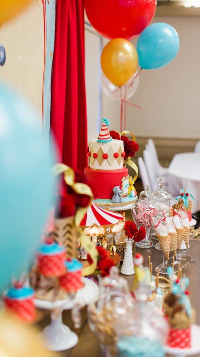 Vintage Circus Birthday Party on Kara's Party Ideas | KarasPartyIdeas.com (5)