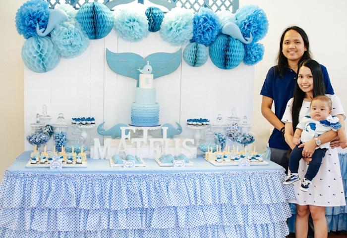 Whale Themed Baptism + Birthday Party on Kara's Party Ideas | KarasPartyIdeas.com (11)