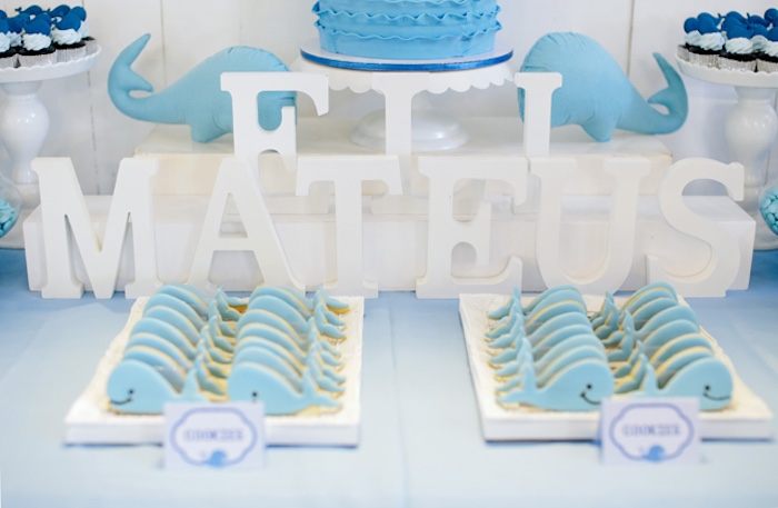 Whale cookies from a Whale Themed Baptism + Birthday Party on Kara's Party Ideas | KarasPartyIdeas.com (8)