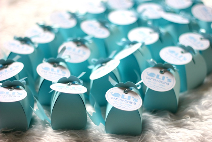 Whale favor boxes from a Whale Themed Baptism + Birthday Party on Kara's Party Ideas | KarasPartyIdeas.com (38)