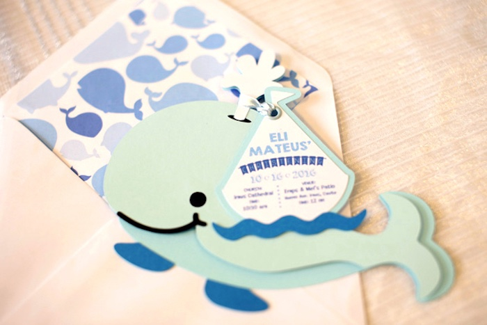 Whale invitation from a Whale Themed Baptism + Birthday Party on Kara's Party Ideas | KarasPartyIdeas.com (37)
