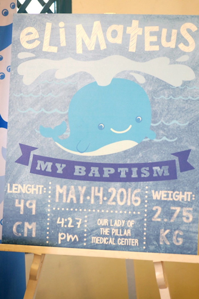 Whale fact board from a Whale Themed Baptism + Birthday Party on Kara's Party Ideas | KarasPartyIdeas.com (36)