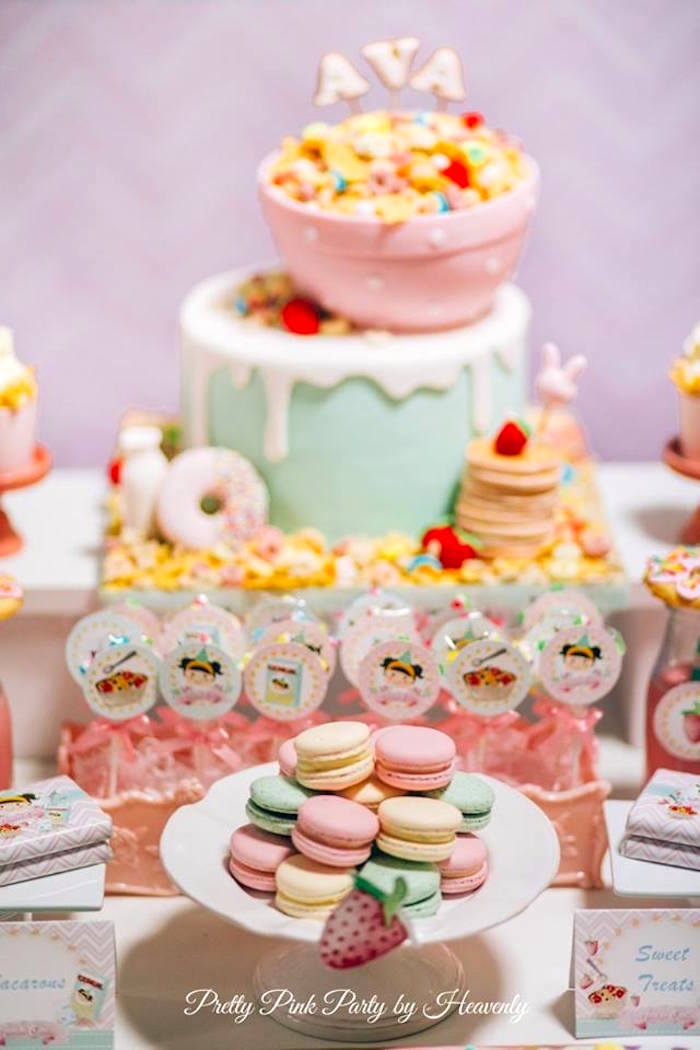 Karas Party Ideas Whimsical Breakfast Themed Birthday Party