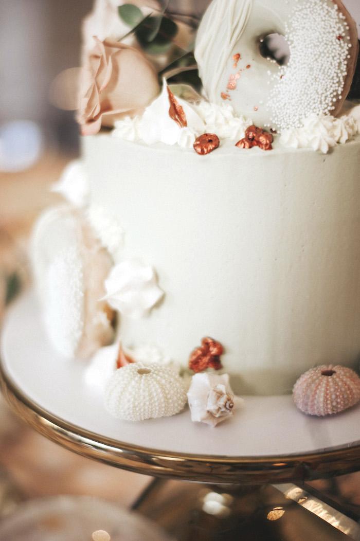 Sea cake from a Whimsical Mermaid Birthday Party on Kara's Party Ideas | KarasPartyIdeas.com (50)