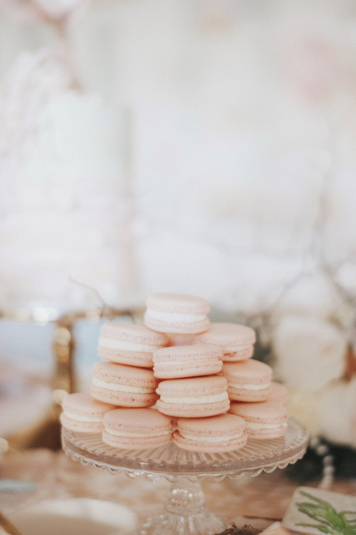 Pink macarons from a Whimsical Mermaid Birthday Party on Kara's Party Ideas | KarasPartyIdeas.com (61)