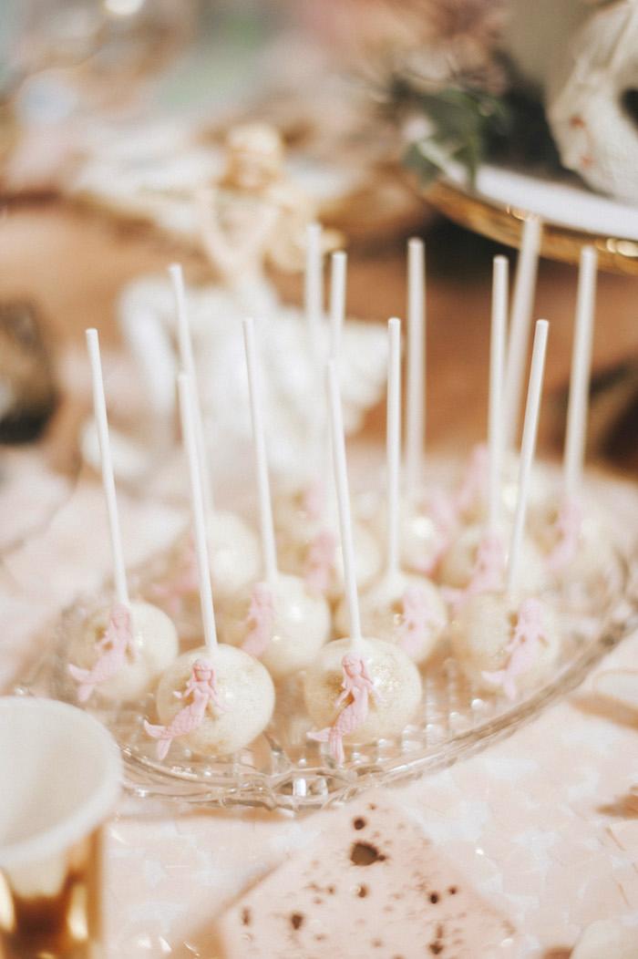 Mermaid cake pops from a Whimsical Mermaid Birthday Party on Kara's Party Ideas | KarasPartyIdeas.com (60)