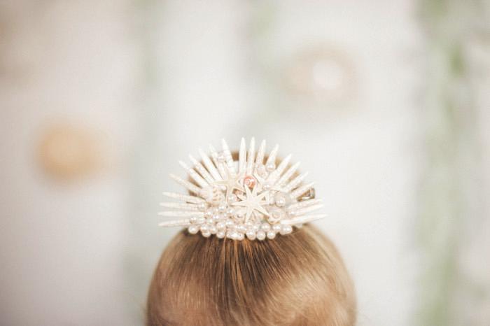 Seashell hair tie + bow from a Whimsical Mermaid Birthday Party on Kara's Party Ideas | KarasPartyIdeas.com (23)