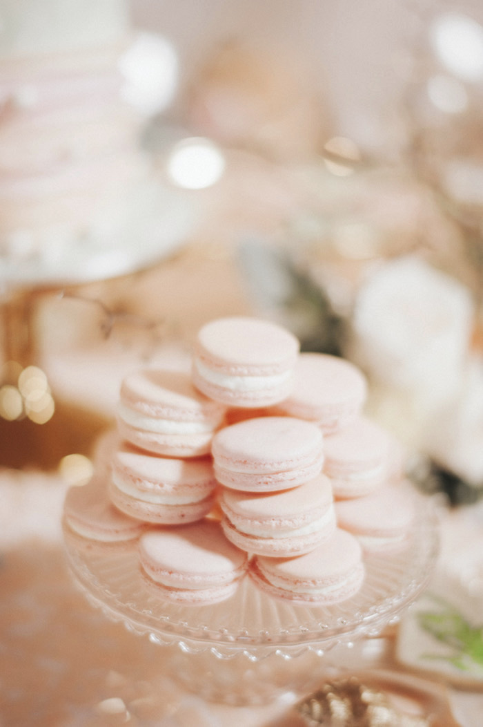 Pink macarons from a Whimsical Mermaid Birthday Party on Kara's Party Ideas | KarasPartyIdeas.com (59)