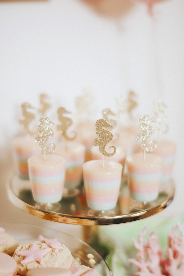Seahorse jelly cups from a Whimsical Mermaid Birthday Party on Kara's Party Ideas | KarasPartyIdeas.com (20)