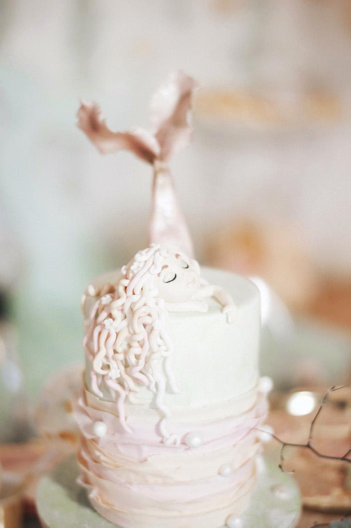 Mermaid ruffle cake from a Whimsical Mermaid Birthday Party on Kara's Party Ideas | KarasPartyIdeas.com (55)