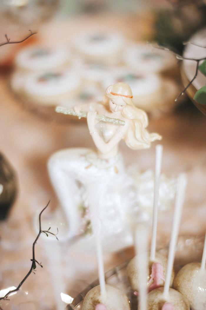 Decorative mermaid from a Whimsical Mermaid Birthday Party on Kara's Party Ideas | KarasPartyIdeas.com (53)