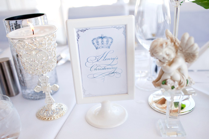 Printed sign from a White & Blue Christening Celebration on Kara's Party Ideas | KarasPartyIdeas.com (12)