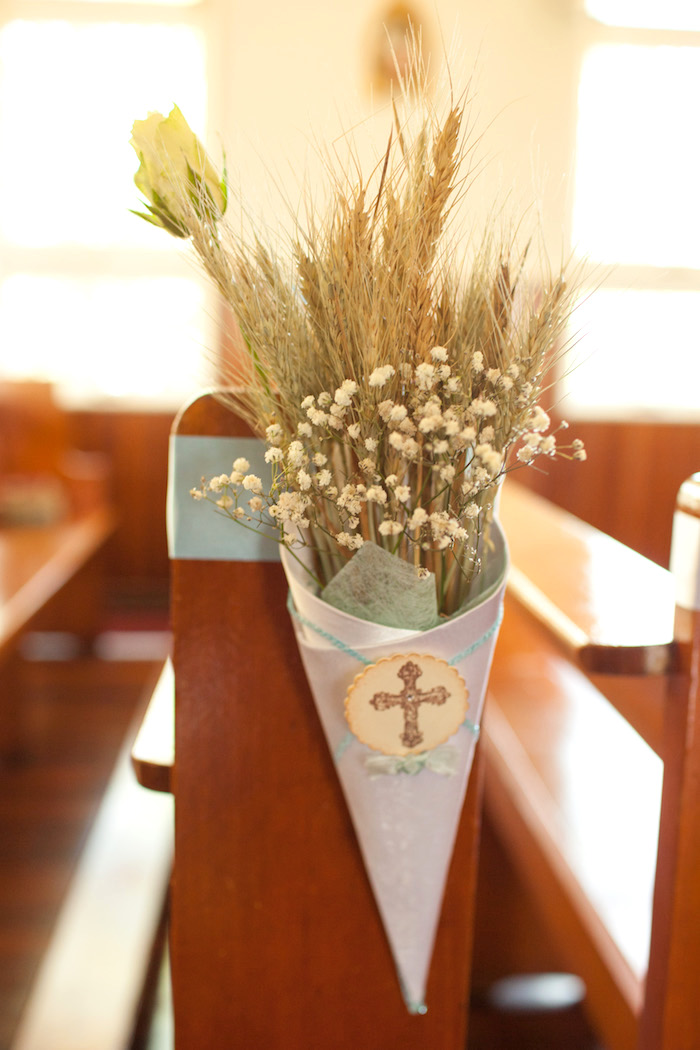 Mini ceremony Chapels from a White & Blue Christening Celebration on Kara's Party Ideas | KarasPartyIdeas.com (23)