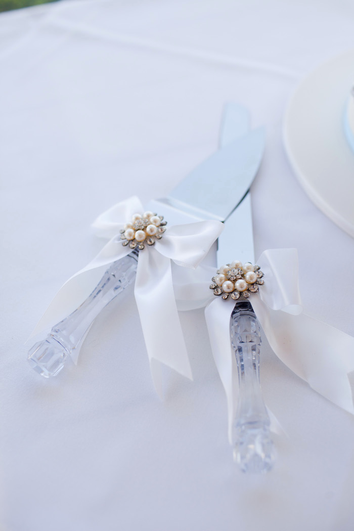 Cake knives from a White & Blue Christening Celebration on Kara's Party Ideas | KarasPartyIdeas.com (17)