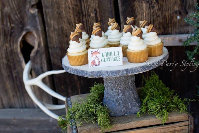Acorn cupcakes from a Woodland Birthday Party on Kara's Party Ideas | KarasPartyIdeas.com (6)
