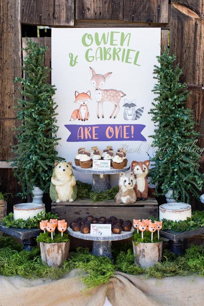 Woodland Birthday Party on Kara's Party Ideas | KarasPartyIdeas.com (12)