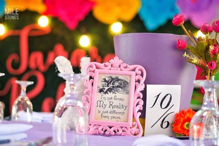 Kara S Party Ideas Becca Alice In Wonderland Birthday