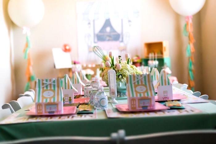 Guest table from a Bake Shoppe Birthday Party on Kara's Party Ideas   KarasPartyIdeas.com (3)
