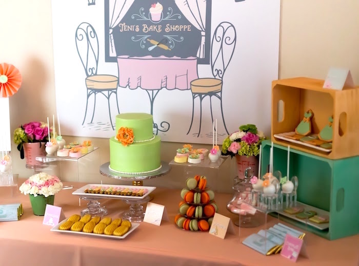 Sweet table from a Bake Shoppe Birthday Party on Kara's Party Ideas | KarasPartyIdeas.com (11)