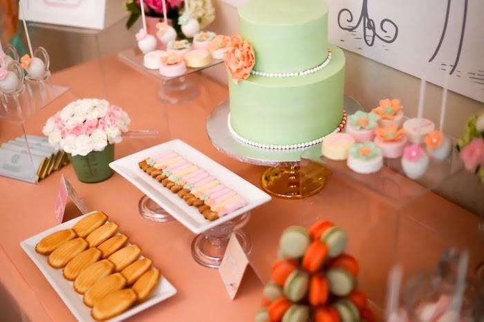 Cake table from a Bake Shoppe Birthday Party on Kara's Party Ideas | KarasPartyIdeas.com (8)