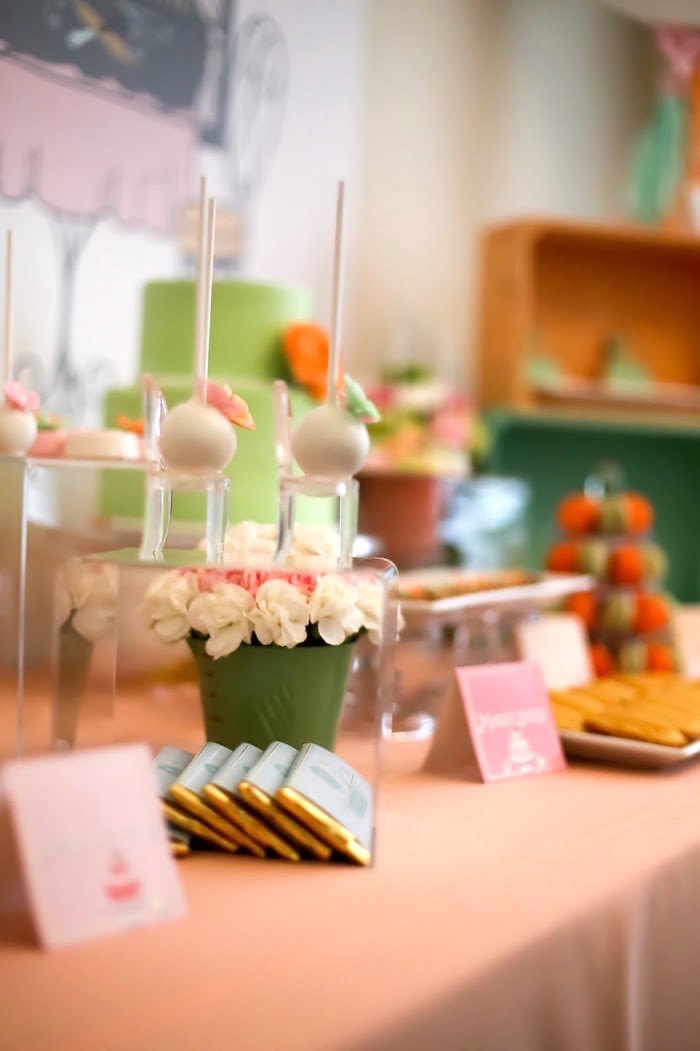 Sweet tablescape from a Bake Shoppe Birthday Party on Kara's Party Ideas | KarasPartyIdeas.com (7)
