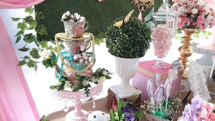 Garden decor from a Beautiful Butterfly Birthday Party on Kara's Party Ideas | KarasPartyIdeas.com (9)