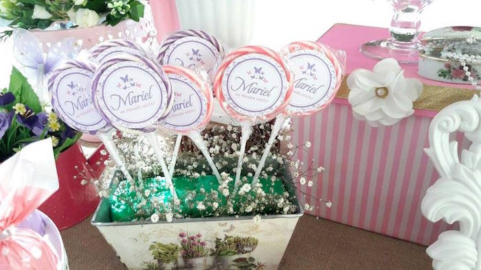 Butterfly lollipops from a Beautiful Butterfly Birthday Party on Kara's Party Ideas | KarasPartyIdeas.com (16)