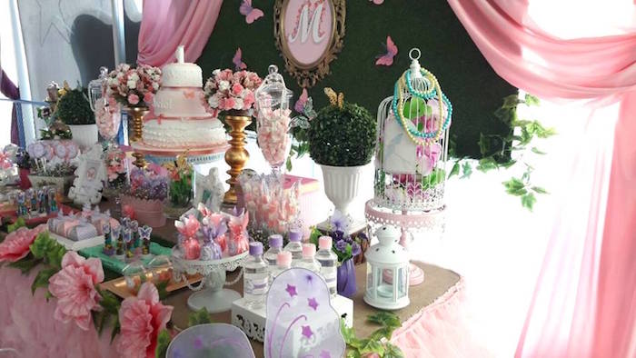 Dessert table detail from a Beautiful Butterfly Birthday Party on Kara's Party Ideas | KarasPartyIdeas.com (15)