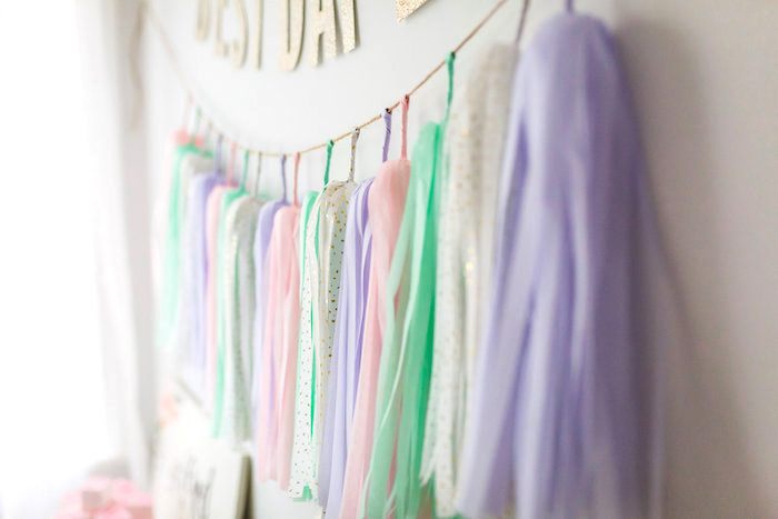 Paper tassel garland from a Best Day Ever Pretty Pastel Birthday Party on Kara's Party Ideas | KarasPartyIdeas.com (26)