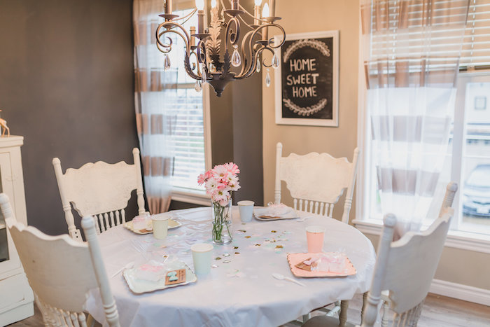 Dining table from a Best Day Ever Pretty Pastel Birthday Party on Kara's Party Ideas   KarasPartyIdeas.com (25)