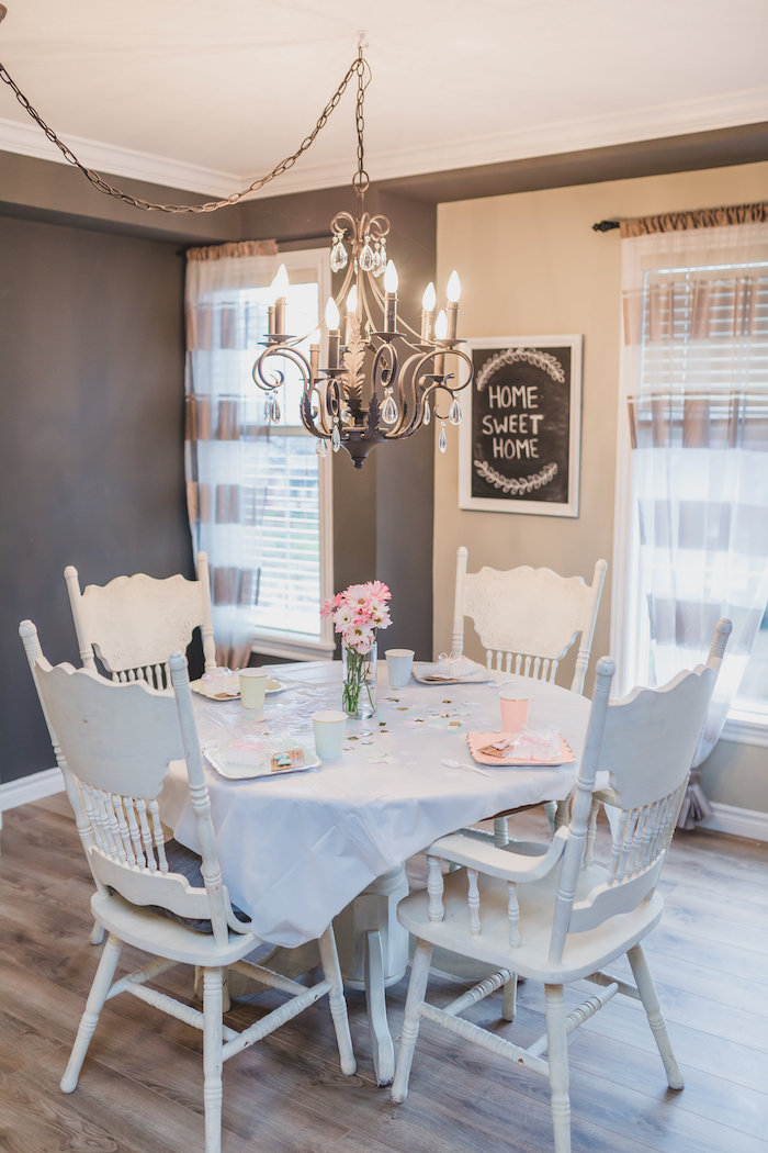 Dining table from a Best Day Ever Pretty Pastel Birthday Party on Kara's Party Ideas   KarasPartyIdeas.com (24)
