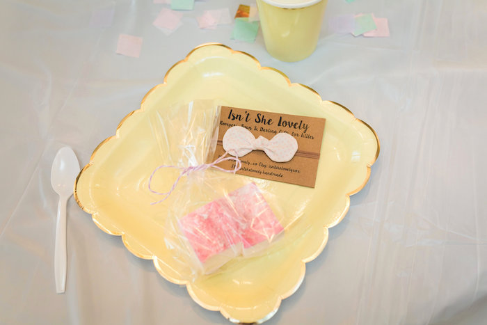 Pastel yellow place setting from a Best Day Ever Pretty Pastel Birthday Party on Kara's Party Ideas   KarasPartyIdeas.com (22)