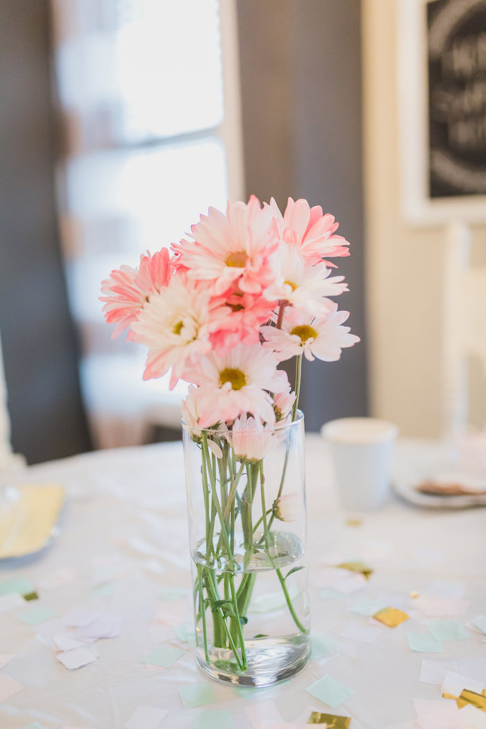 Flowers from a Best Day Ever Pretty Pastel Birthday Party on Kara's Party Ideas | KarasPartyIdeas.com (21)