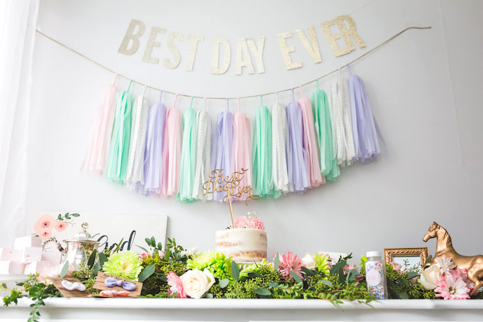 Best Day Ever Pretty Pastel Birthday Party on Kara's Party Ideas   KarasPartyIdeas.com (18)
