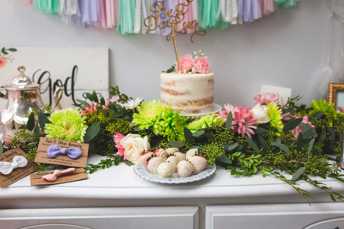 Dessert tablescape from a Best Day Ever Pretty Pastel Birthday Party on Kara's Party Ideas | KarasPartyIdeas.com (10)